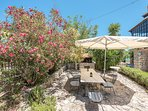 Peloponnese Villa Thalia in Epidaurus with pool and view - patio and bbq area