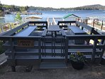 Shared Guest Dock | 2 minute drive from home. Ample seating and towels