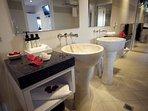 Italian design marble bathroom