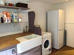 Utility room - washing machine and 2nd fridge plus freezer