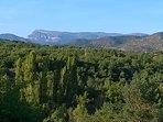 Vista de Peña Oroel desde Senda de Izarbe