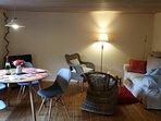 Wohnzimmer in der Ferienwohnung 'Oie'