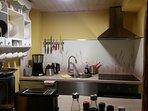 Küche in der Ferienwohnung 'Oie'