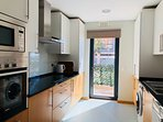Fully equipped kitchen: coffee machine, kettle,stove,oven,microwave.dishwasher and washing machine