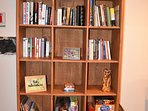 We have lots of board games and books to keep the family entertained!
