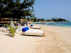 Mammee Bay Beach only 4 minutes walk away there is a bar also a restaurant on the beach