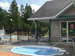 Soak away your worries at the community hot tub!