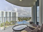Sip your morning coffee on the private balcony overlooking the resort.