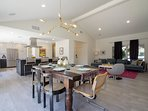 Open floor plan with a modern touch