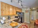 You'll have ample counter space and all the essential appliances.