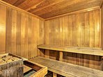 End the day with a sauna and let your muscles relax.