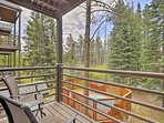 This unit boasts a private balcony and easy access to the shared hot tub!