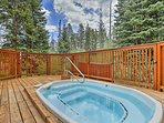Soak away the day in the steamy hot tub waters.