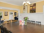 Enjoy the home's classic features from the dining room.