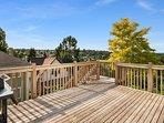 On warm days, enjoy the large deck.