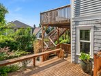 There are several levels of patios offering outdoor space to enjoy sunny days.