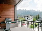 Spacious balcony with gas barbecue