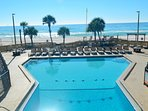 All 3 pools are Gulf side. The main pool is between the East & West Towers.  Your balcony overlooks this pool and the...