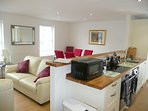 open plan kitchen/diner and lounge area