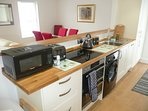 Full kitchen with dishwasher, w machine, fridge freezer, double oven/grill,microwave all utensils.