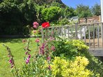 Warrandyte's sheltered garden enjoys sun most of the day.