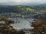 Conwy castle viewed from Deganwy old fort; well worth the scramble.