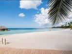 Caribbean sand and crystal clear beaches