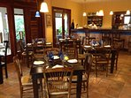La Trattoria, great food indoors right by the pool
