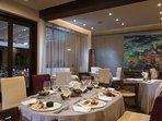 Fine dining at Garpazo Restaurant