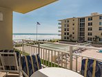 View overlooking pools, shuffle board, deck and OCEAN!