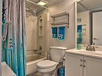 With a shower/tub combo, this condo is accessible for all mobility ranges.