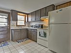 There is plenty of space for additional cooks in the kitchen.
