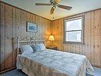The second bedroom has a sumptuous full mattress.