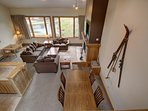 Lake views in this gorgeous 2 and loft condo located near Lakeside Village.