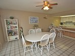Open Dining Area with Seating for 6-Beautiful Oceanfront Views of The Gulf