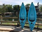 Pair of Kayaks Available For Use W/Nominal Fee - Best Way to Explore Our Lagoon!
