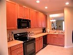 Large modern fully equipped open kitchen