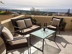 Comfortable seating on the terrace. Perfect for watching the sun go down.