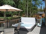 Brand new 6-person hot tub on back deck