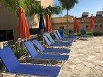 Spacious pool area Tala Chorio Seaview