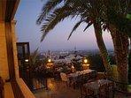 Sunset view from Melitzia Taverna terrace.