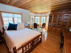Bdrm 2 has a bathroom right outside the door, a super comfy queen bed and views of the lake
