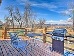 Relax and enjoy the beautiful mountain views from the back patio