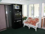 Sunroom with TV/DVD