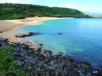 Beautiful Waimea Bay!  Only a short walk on the bike path along the ocean!