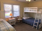 twin & bunk bed (double on bottom, twin on top)