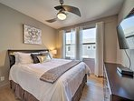Perfect for couples, this room boasts a queen bed.
