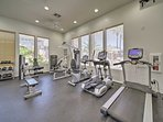 Get your sweat on in the fitness center.