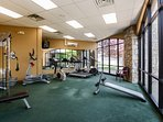 fitness area at clubhouse