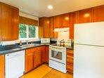 Full Kitchen Custom Cherry Cabinets! French Press, Blender, Just like Home!!